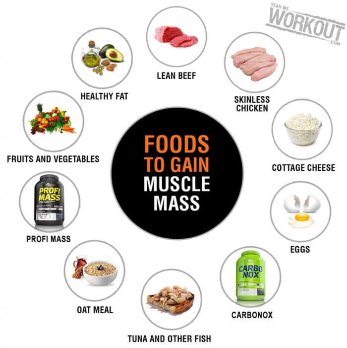 Foods To Gain Muscle Mass - Health Fitness Tips Eating Clean Abs