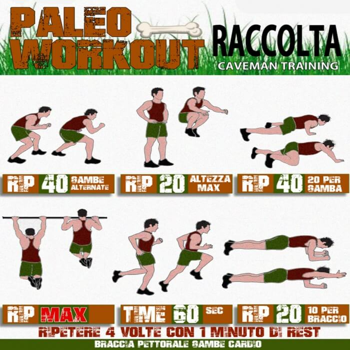 Raccolta Caveman Training - Paleo Workout HIIT Abs Legs Sixpack