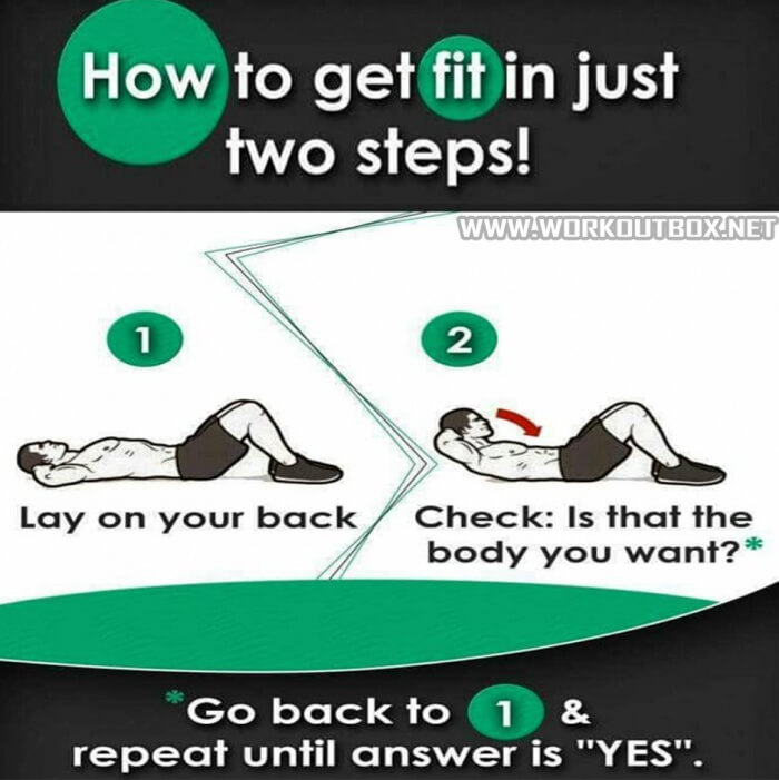 How To Get Fit In Just Two Steps - Healthy Fitness Workout Tips